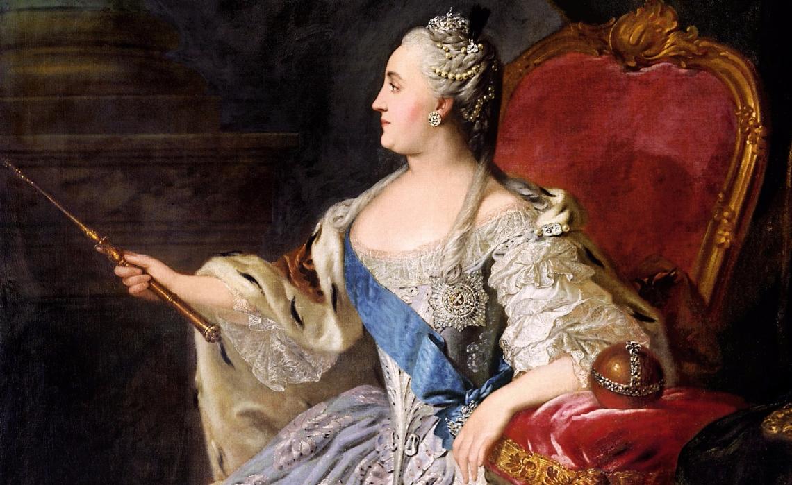 Catherine II by Fedor Rokotov (1763) Tretyakov Gallery